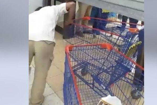Action coup de poing dans des supermarchés, 14 septembre 2019