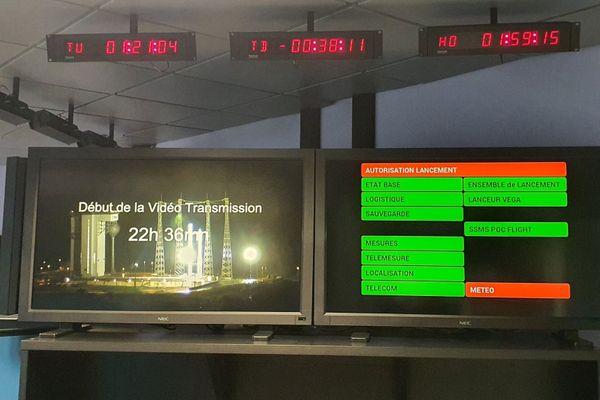 40mn avant le décollage, un nouveau rouge météo a stopper la chronologie de lancement
