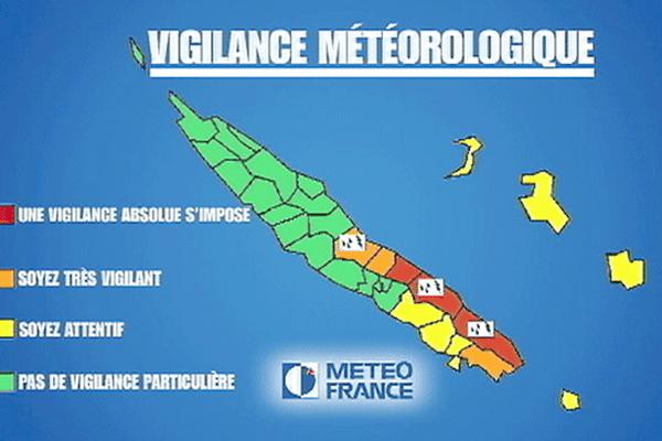 Alertes et vigilances météo en Nouvelle-Calédonie
