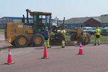Lundi 23 août les agents de la DTAM ont procédé à des travaux sur la chaussée menant au quartier des graves
