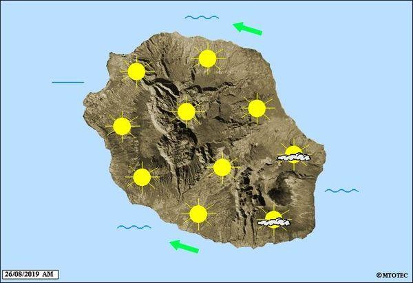 Carte météo 26 août 2019