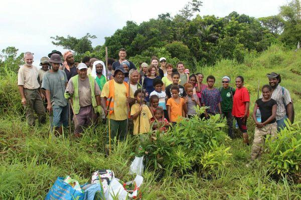 Poindimié : les bénévoles et les membres de l'association Pöpwadene