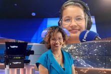 Fanny Marsot à Paris, sur le plateau télé de BFM et au micro d'un des studios radio d'Europe 1.