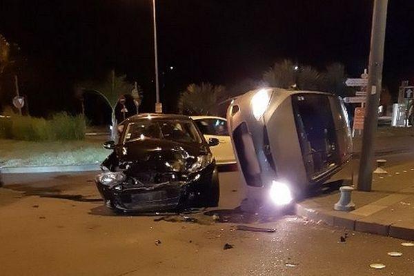 Accident bas des rampes de Plateau-Caillou, ville de Saint-Paul, novembre 2019
