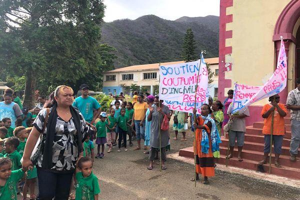 Opération Thio village mort, marche citoyenne, 18 avril 2018