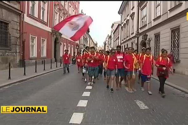 Les tahitiens font le show aux Journées mondiales de la Jeunesse en Pologne
