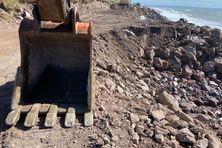 Les travaux pour sauver la route de l'isthme de Miquelon Langlade se poursuivent