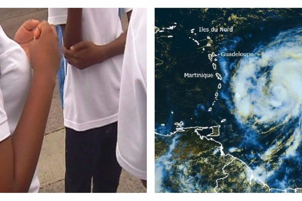 Écoliers et ouragan