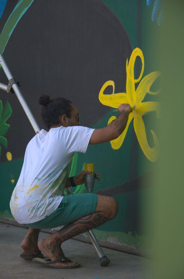"TE AOATAKU À O HIVA"" - fresque murale"