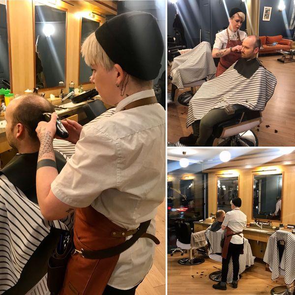 Depuis 2018, la Calédonienne est coiffeuse-barbière dans un salon à Levallois-Perret