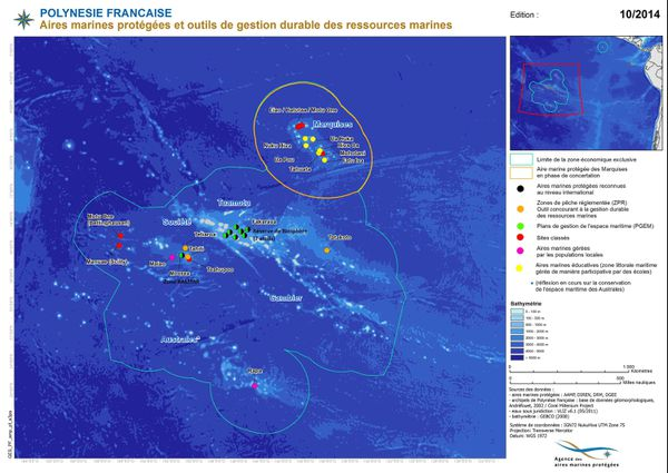 Aire marine protégée aux Marquises