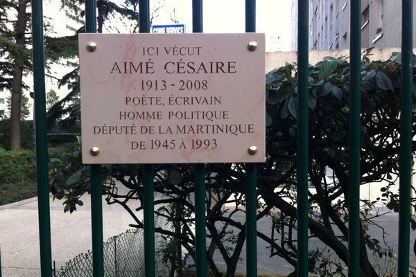 plaque Césaire