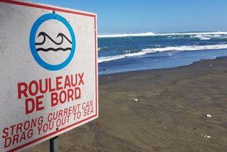 Une forte houle à La Réunion.