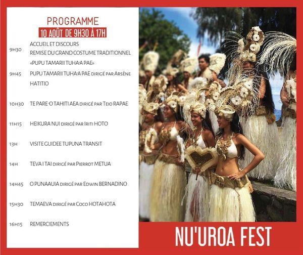 Programme 2ème édition du Nu'uroa Fest' !