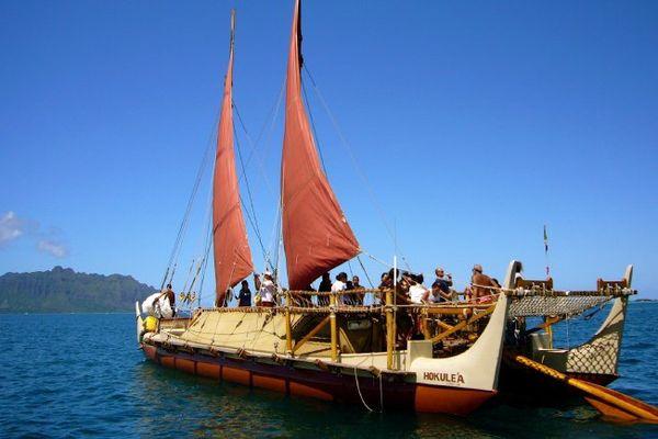 Hokulea en Polynesie