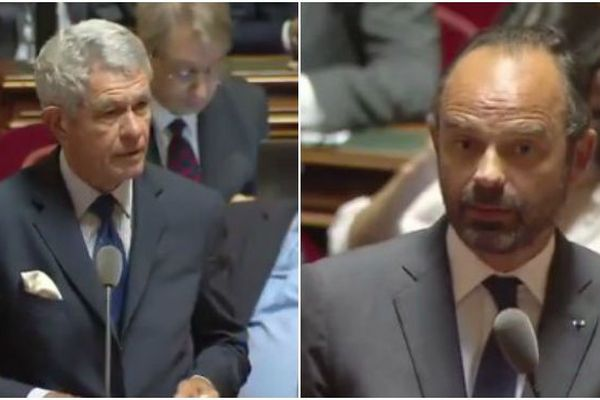 Pierre Frogier / Edouard  Philippe au Sénat