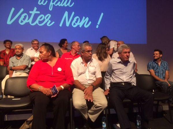 Lancement de la campagne référendaire du Rassemblement, centre culturel du Mont-Dore, 2 mai 2018