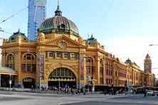 La gare de Flinders Street à Melbourne