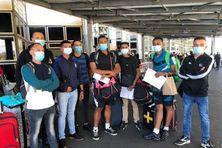Huit jeunes du RSMA de retour sur l'île, après le défilé du 14 juillet à Paris.