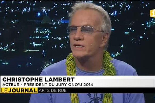 Christophe Lambert, président du jury du festival Ono'u
