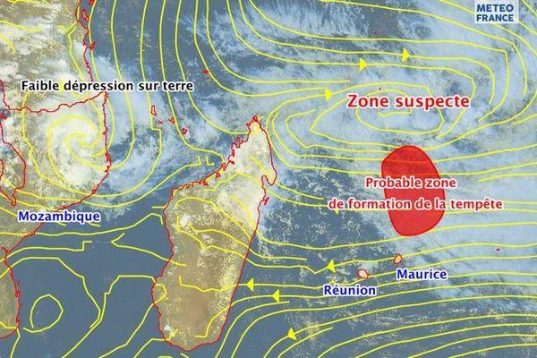 tempête tropicale dépression Réunion Maurice 271219