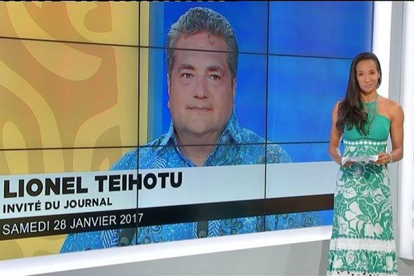 Lionel Teihotu : invité du journal