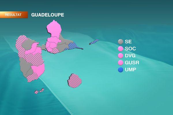 Carte Guadeloupe départementales