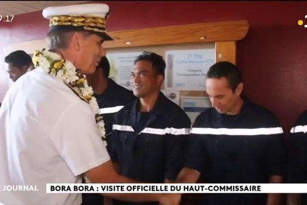 Visite officielle du Haut Commissaire à Bora Bora