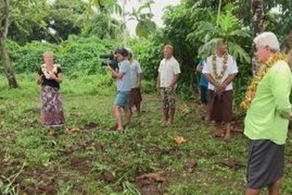 Visite des parcelles ensemencées par la CCIMA et les chefs de villages de Hihifo