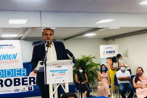 Didier Robert présente ses colistiers pour les Régionales de 2021