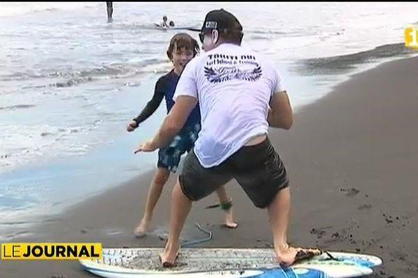 A l'école du surf