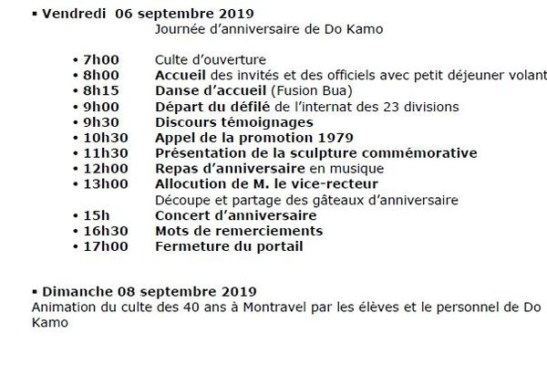 programme Do Kamo