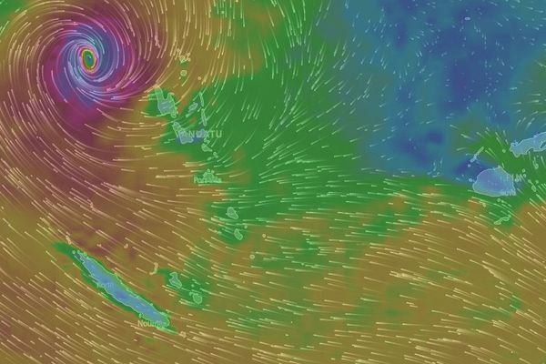 Capture carte windy cyclone Donna avant préalerte NC (6 mai 2017)