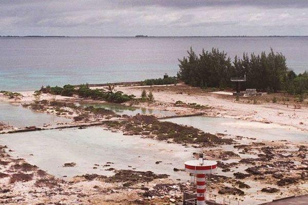 L'atoll de Mururoa en Polynésie, ancien théâtre d'expérimentations nucléaires