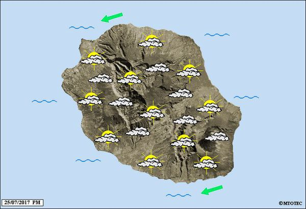 Carte météo du 26 juillet 2017