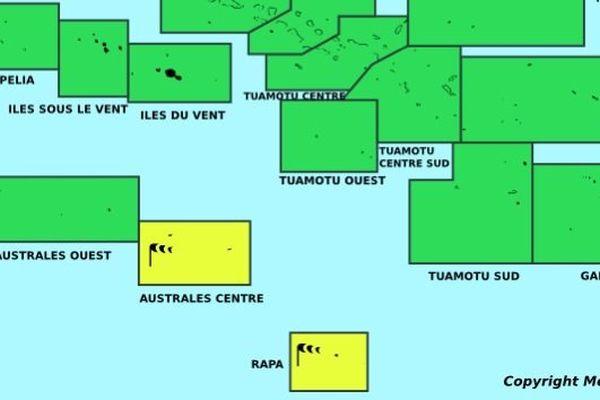 Vigilance météo en cours sur la Polynésie Française