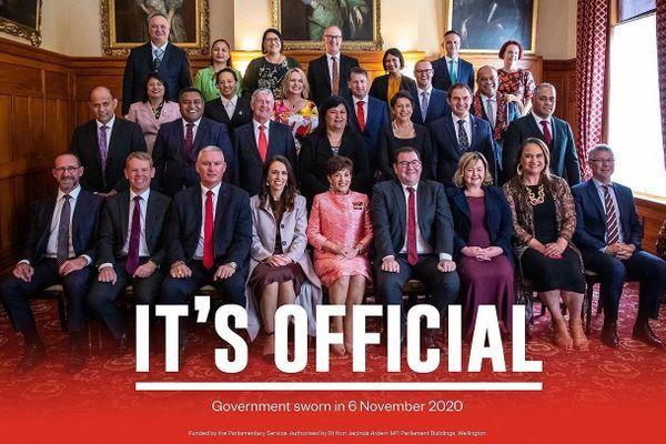 Nouveau gouvernement néo-zélandais 2020