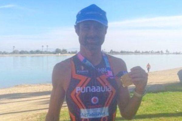 Fréderic Tête vainqueur du triathlon de Palm Desert.