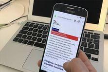 Depuis lundi 6 avril, une nouvelle attestation dérogatoire de sortie est accessible depuis son smartphone ou sa tablette. Elle doit être présentée en cas de déplacement lors du confinement dû au coronavirus COVID 19. /