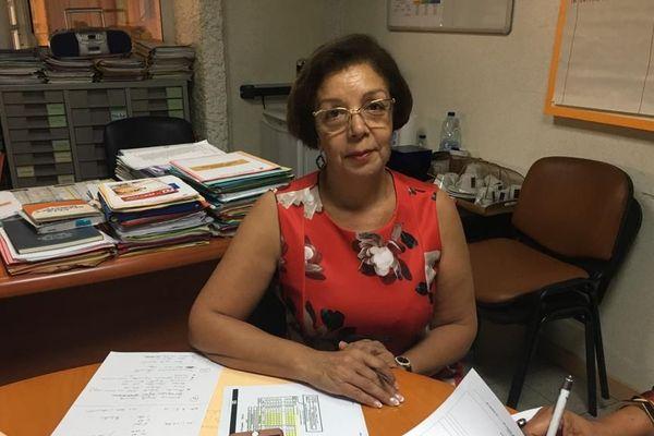 Christiane Coralie directrice des soins du CHU