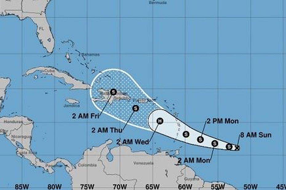la tempête tropicale Dorian poursuit sa route vers l'Arc Antillais - Guadeloupe la 1ère