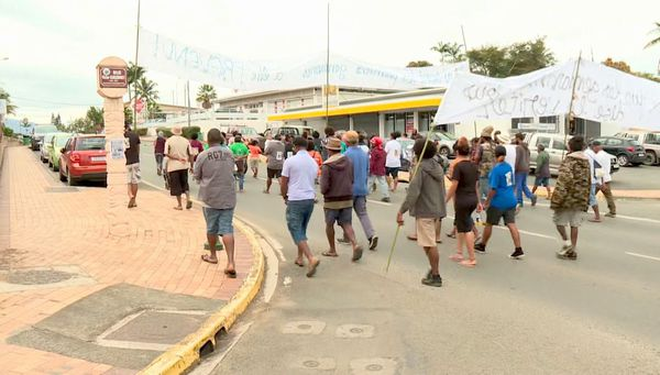 Marche pour Luc Mathieu à La Foa, la deuxième, 28 août 2020