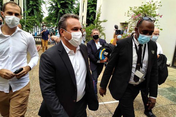 Didier Robert arrivée tribunal de Champ-Fleuri procès affaire des musées 220421