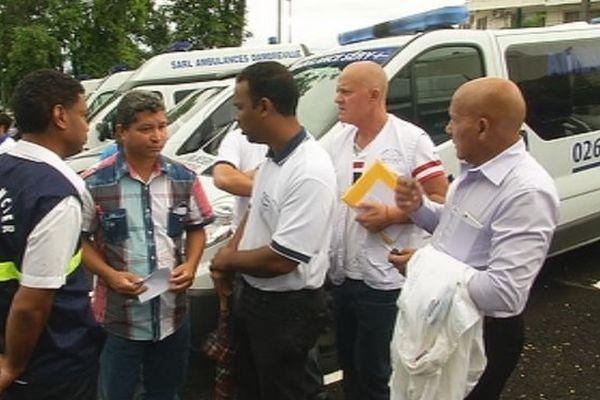 Manifestation devant le CHU : les ambulanciers veulent être de vrais partenaires.