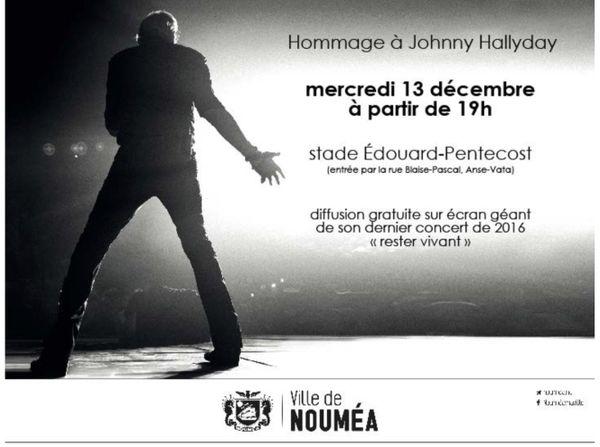 Johnny Hallyday concert Nouméa