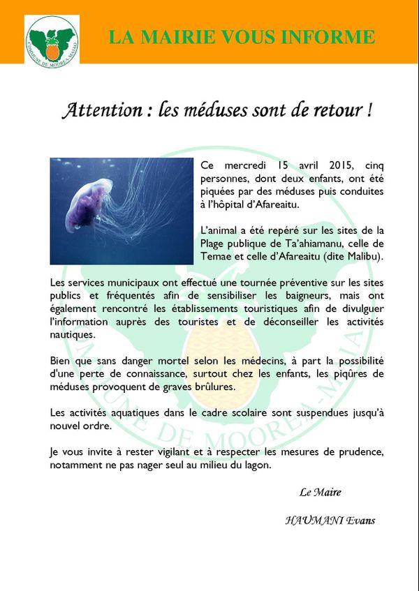 alerte méduses