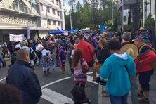 30 juin, mobilisation devant le Congrès à l'appel de la Fédération des fonctionnaires, afin de dénoncer la situation du système de santé.