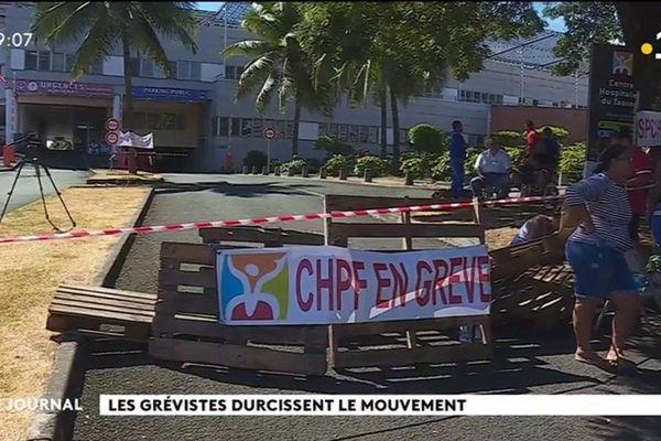 Grève à l'hôpital : l'entrée du CHT bloquée
