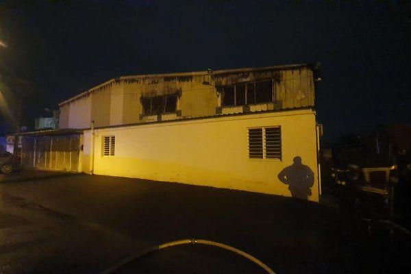Garage municipal incendié