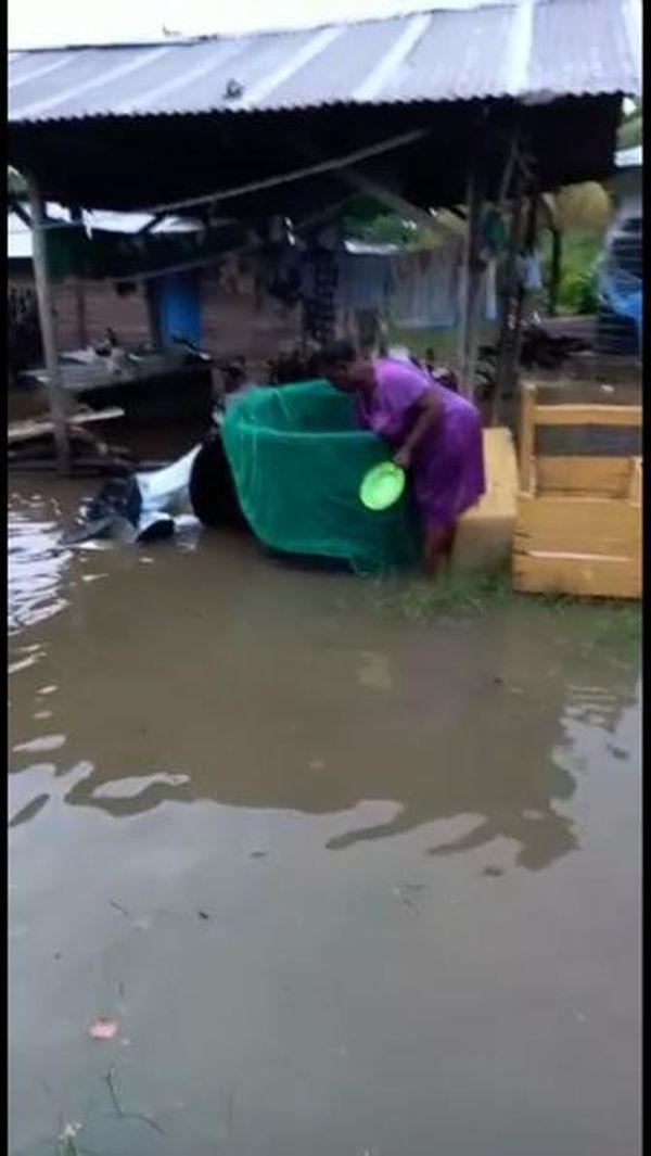 Monfina inondé